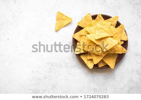 Tányér nachos vacsora ebéd mexikói zöldség Stock fotó © M-studio