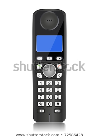 black isolated dect phone handset Stock photo © chesterf