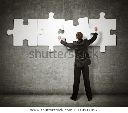 business man with puzzle stock photo © 4designersart