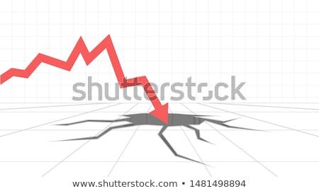 red crashing arrow stock photo © cteconsulting