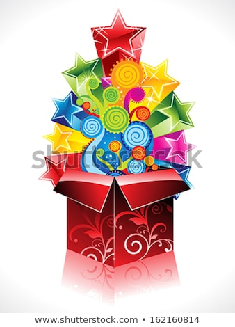 abstract colorful magic box explode stock photo © pathakdesigner