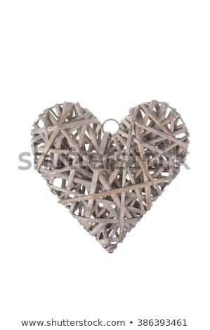 Fonott szív dísz barna szeretet románc Stock fotó © wavebreak_media