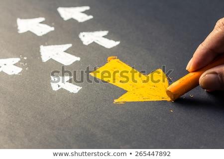 verandering · Geel · verkeersbord · illustratie · ontwerp · weg - stockfoto © tashatuvango