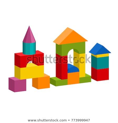 trois · rectangle · étapes · couleur · boîte · rouge - photo stock © paha_l