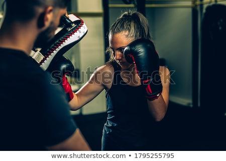 Kickboxing uomini isolato bianco sport bellezza Foto d'archivio © get4net