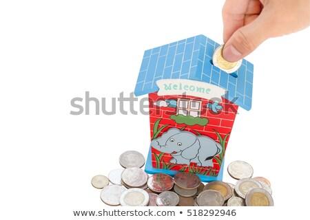 Pembe kumbara para finanse banka Stok fotoğraf © sqback