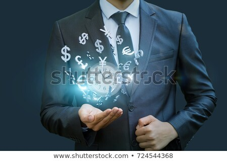 Pound Symbol Button Shows Money And Investments Stock photo © stuartmiles