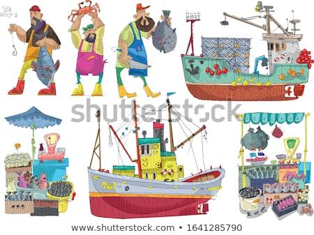 лодка · удочка · посадка · чистой · морем · Средиземное · море - Сток-фото © lunamarina