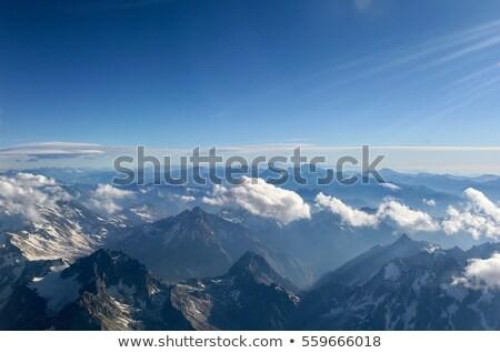 Luchtfoto bergen vorm vliegtuig grens Stockfoto © fxegs