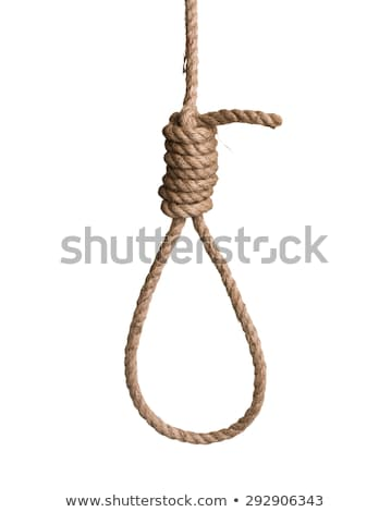 Stock photo: hangmans rope noose isolated on white