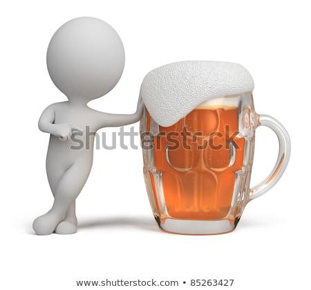 3D pequeño hombre bar blanco persona Foto stock © karelin721