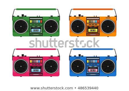 Music player música desenho ícone clip-art Foto stock © zzve