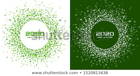 öko terv új év levél kreatív vektor Stock fotó © rioillustrator