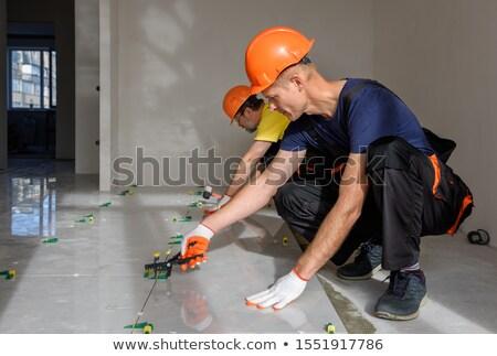 Mão homem construção trabalhar bola Foto stock © photography33