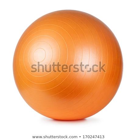 Ginásio bola caber olhando mulher jovem Foto stock © jayfish