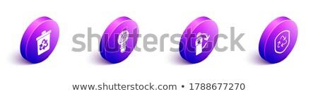 Cesto de lixo dentro reciclar símbolo 3D imagem Foto stock © alexmillos