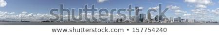 Нью-Джерси Панорама статуя свободы реке небе Сток-фото © hanusst