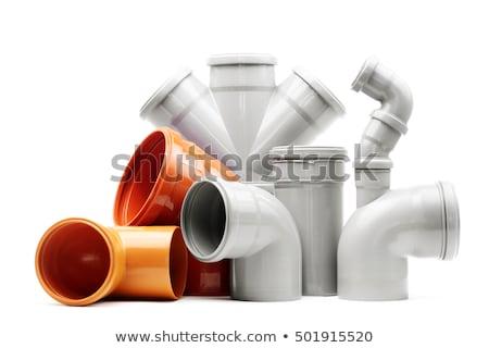 Plastic pijpen riolering bouw materiaal Stockfoto © manfredxy
