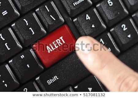 Hayır kırmızı klavye düğme para el Stok fotoğraf © tashatuvango