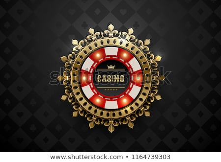 Vintage casino background with poker elements, vector illustration Stock photo © carodi