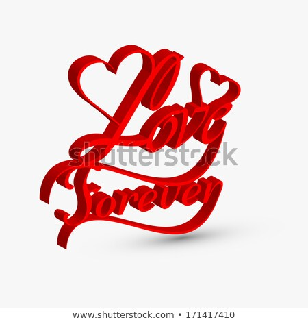 Beautiful love forver artistic 3d text design vector Stock photo © bharat