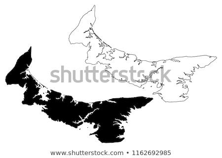 Prince edward adası Kanada duyarlı web tasarım harita düğme Stok fotoğraf © speedfighter