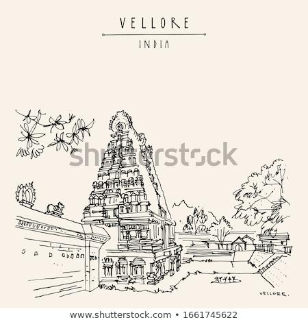 shiva · tempio · fort · sera · tempesta · torre - foto d'archivio © Klodien