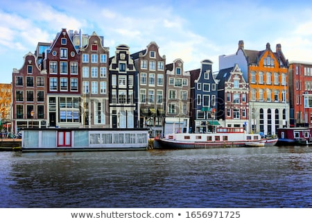 Amsterdam cityscape vue port belle printemps Photo stock © joyr