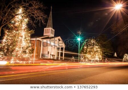 クリスマス 町 米国 トラフィック 休日 美しい ストックフォト © alex_grichenko