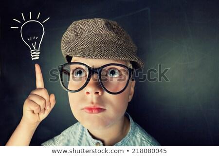 student with green light bulb stock photo © kirill_m