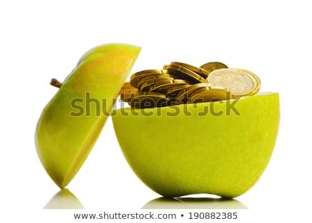 Apple and money isolated.  Health concept Stock photo © natika
