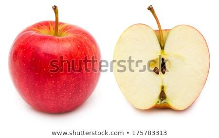 赤いリンゴ · コア · 孤立した · 白 - ストックフォト © bloodua