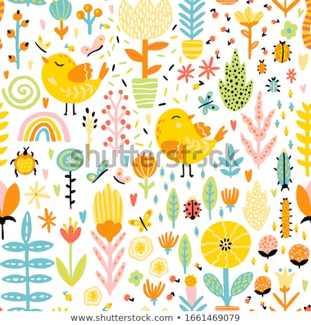 Seamless pattern with butterflies. Flat style. Stock photo © gladiolus