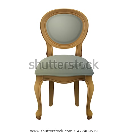 Wooden vintage chair with carved back Stock photo © amok