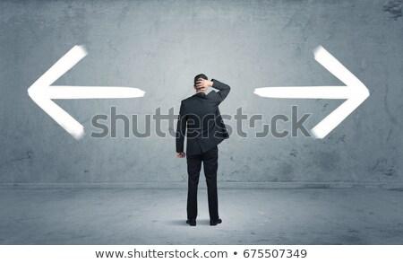 téves · helyes · etikus · kérdés · dilemma · kézírás - stock fotó © 3mc