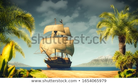 old pirate on beach stock photo © clairev