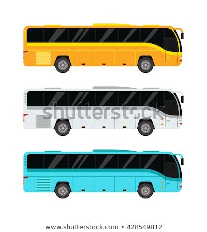 Yeşil turist otobüs koç araba taşıma Stok fotoğraf © leonido