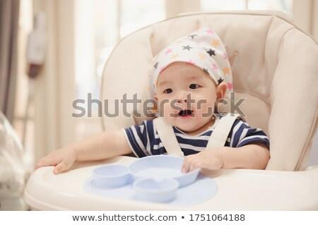 Bebek bekleme akşam yemeği oturma sandalye yalıtılmış Stok fotoğraf © filipw