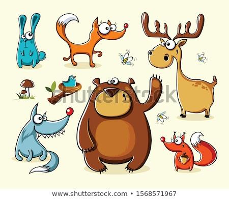 漫画 面白い 動物 セット デザイン 背景 ストックフォト © tiKkraf69