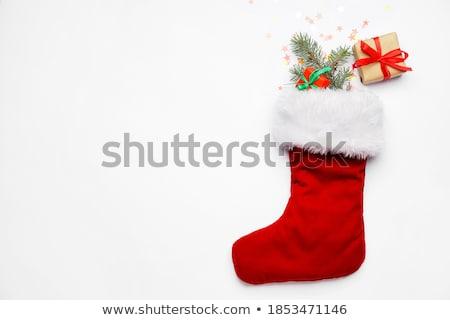 Рождества чулок изолированный белый подарок настоящее Сток-фото © kravcs