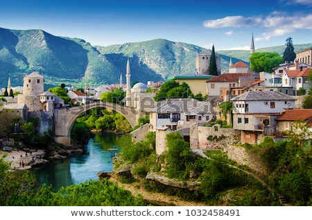 Bosna Hersek görmek ev Bina şehir doğa Stok fotoğraf © alexandre17