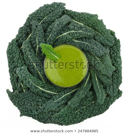 Green Smoothie With Kale Photographed From Above Stock photo © PeterHermesFurian