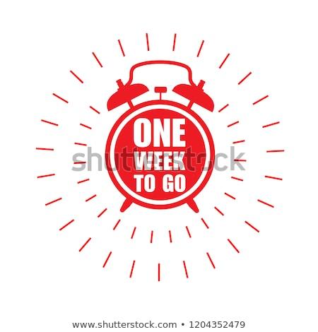 Hafta teklif kırmızı vektör ikon düğme Stok fotoğraf © rizwanali3d