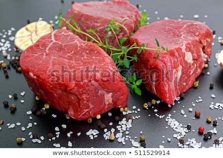 raw beef filet closeup  Stock photo © OleksandrO