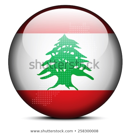 Map with Dot Pattern on flag button of Lebanese Republic Stock photo © Istanbul2009