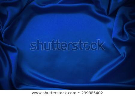 Elegáns sötét kék selyem konzerv absztrakt Stock fotó © ozaiachin