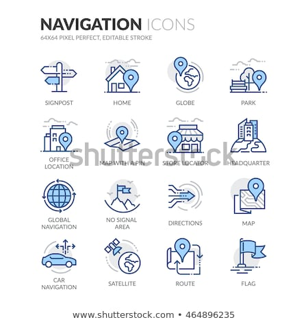Car Colored Line Icons Stock photo © AnatolyM