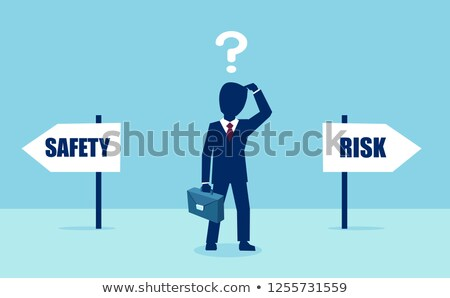 Decision at a crossroad - Security or Risk Stock photo © Zerbor