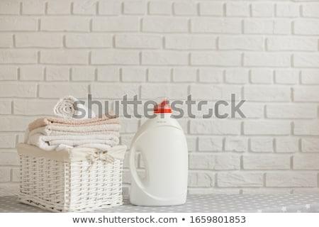 корзина · для · белья · сложенный · одежды · белый · моде · корзины - Сток-фото © ozgur