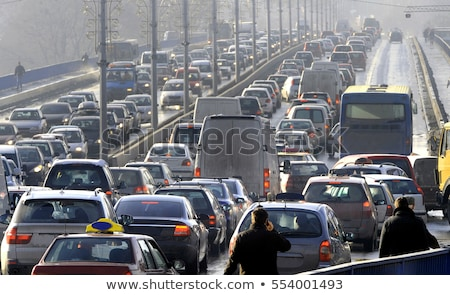 sürücü · yağmur · trafik · sıkışıklığı · araba · ön · cam · ayna - stok fotoğraf © ldambies